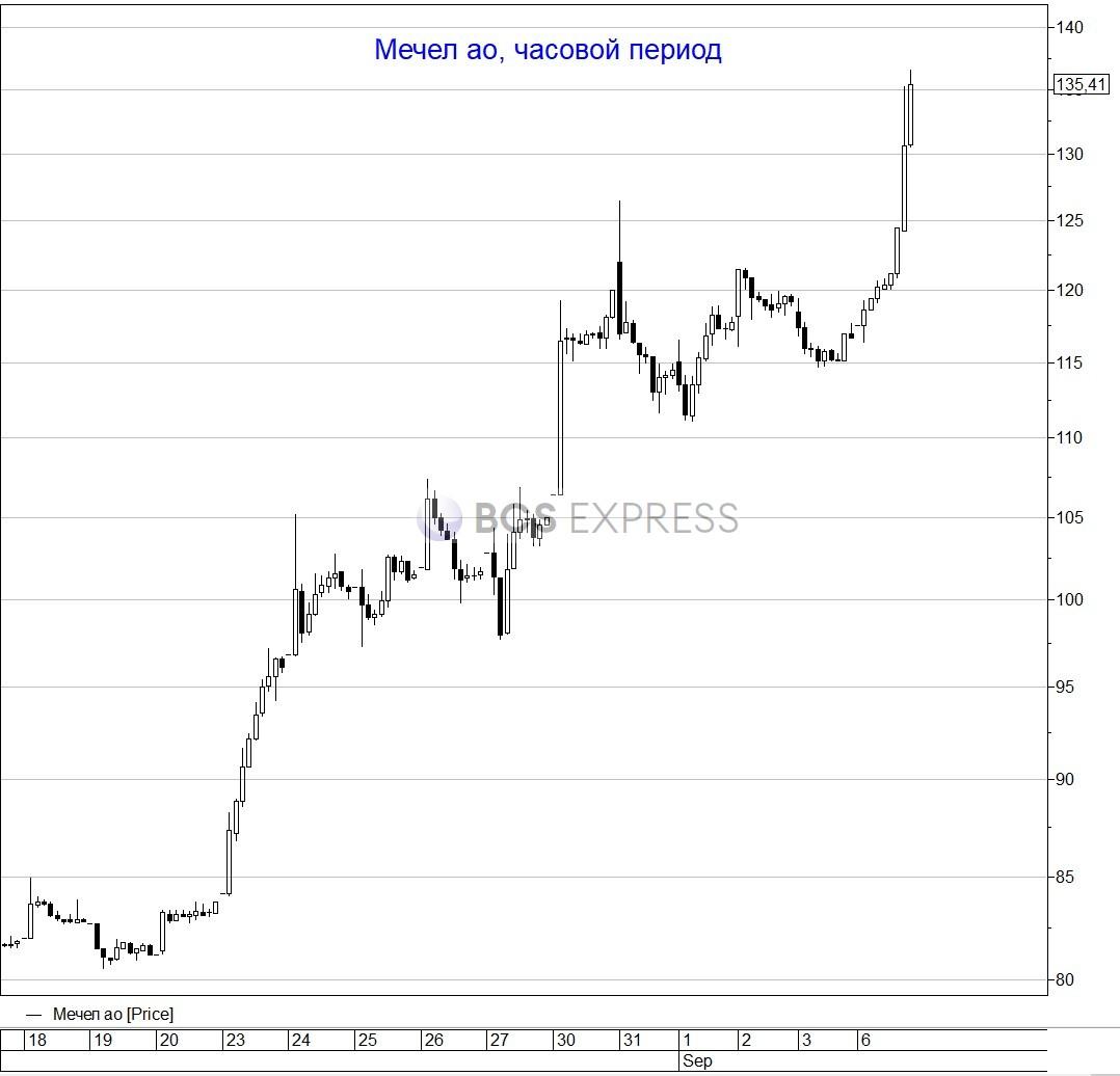 Обыкновенные акции Мечела взлетели на 16% на высоких оборотах