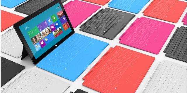 На Microsoft Surface