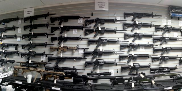 Продажа оружия упала