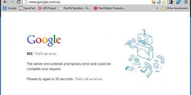 Сбой в Google сократил