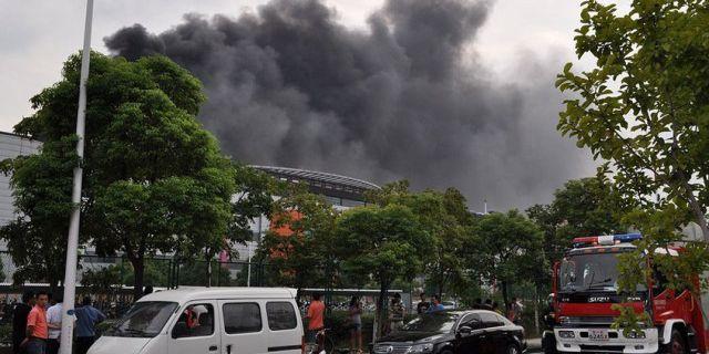 Пожар на заводе SK Hynix