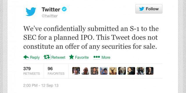 Twitter подал заявку на