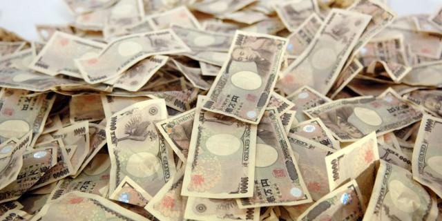 Иена к доллару США упала
