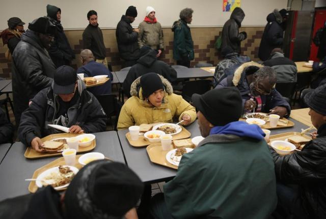Число бездомных в
