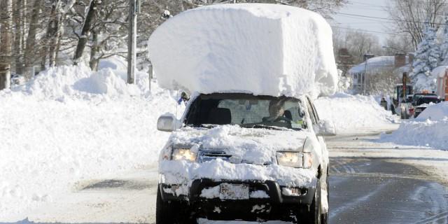Ущерб от снежной бури в