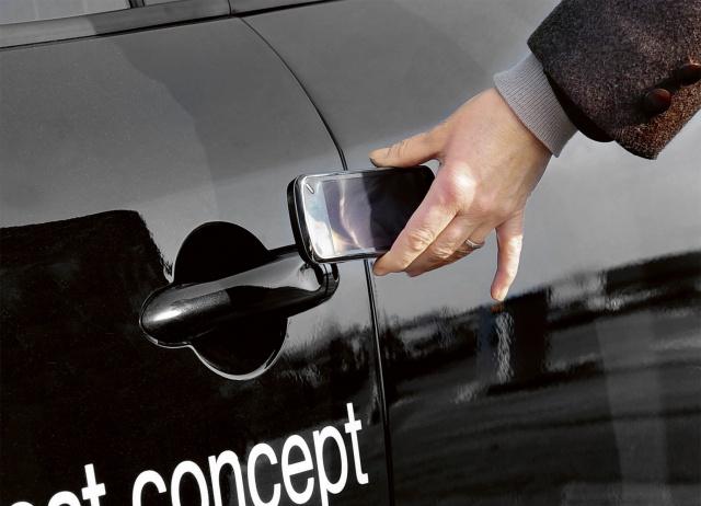 iPhone откроет автомобиль