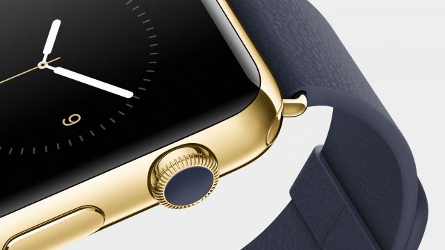 Золотые часы Apple Watch