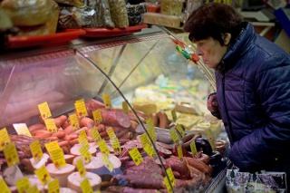 Инфляция в РФ шестую