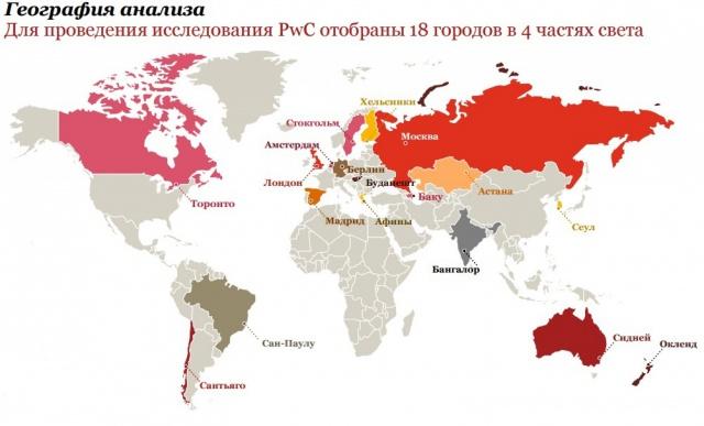 PwC: Москва среди