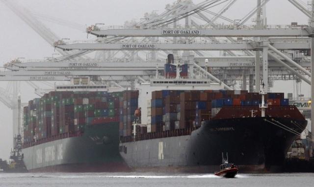 Экспорт США упал впервые