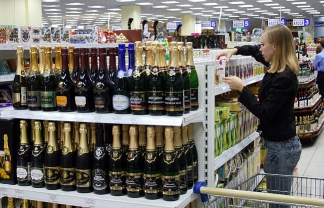 Продажи водки в Москве в