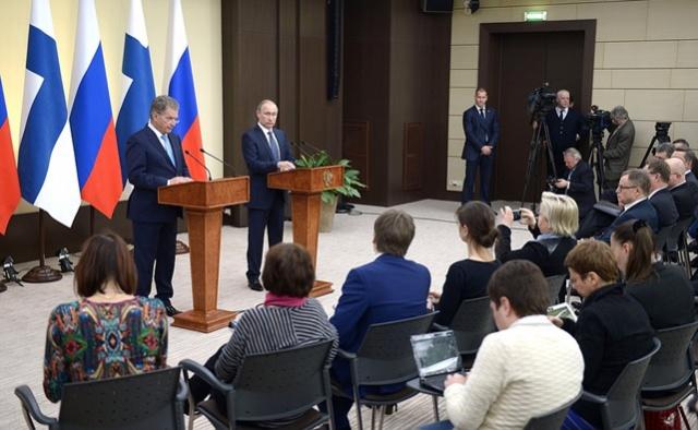 Путин: РФ и Финляндия
