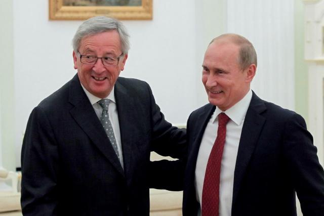 Путин и Юнкер на ПМЭФ