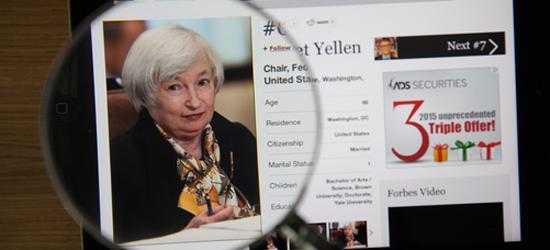 Глава ФРС Йеллен  ждет