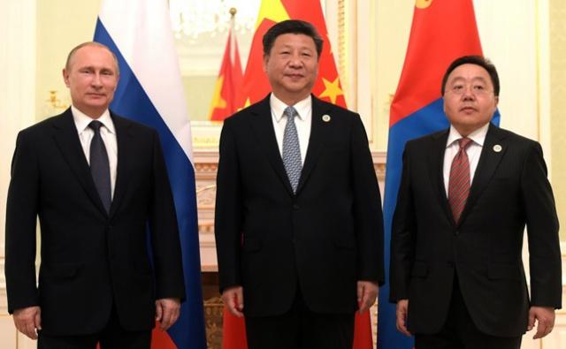 РФ, Монголия и КНР