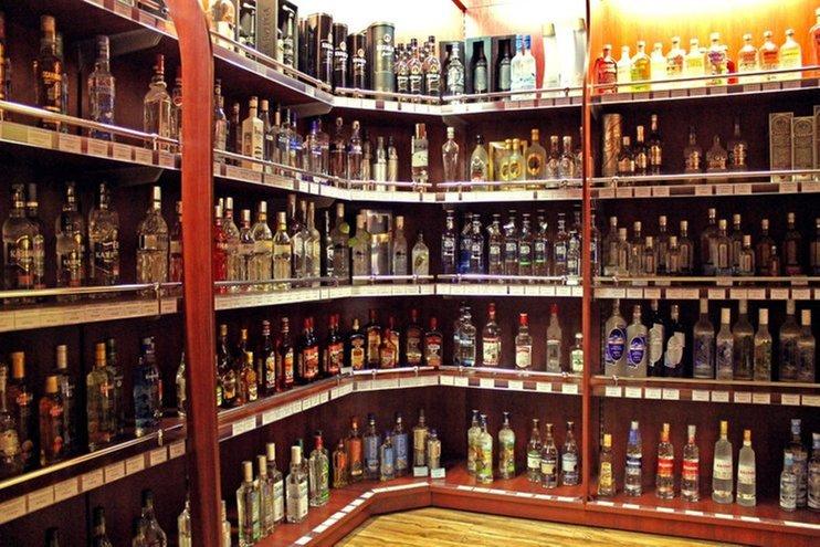 Продажи алкоголя в РФ в